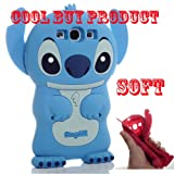 Cool Buy's Authentic BLUE Lilo and Stitch 3D Soft Case Cover for Samsung Galaxy S III S 3 GT-i9300 - Blue