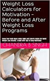 Weight Loss Calculators for Motivation - Before and After Weight Loss Programs: Know Your Body Mass Index (BMI) and Calorie Intake for Quick Weight Loss Results. A Book with Tips to Keep Motivated