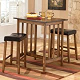"""Berringer Pub Table with 2 24"""" Barstools by Ashley Furniture"""
