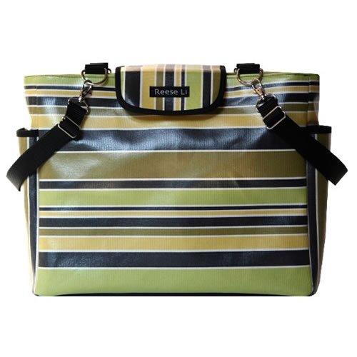 Lexington Black Stripe Diaper Bag By Reese Li front-867712