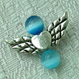 20pcs Tibetan Silver Angel Wing Charm Beads 20mm(D) ~Jewelry Findings~