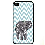 S9Y Chevron Wave Print Elephant Hard Case Back Cover Skin Protector For Apple iPhone 5C & with a Nice Gift