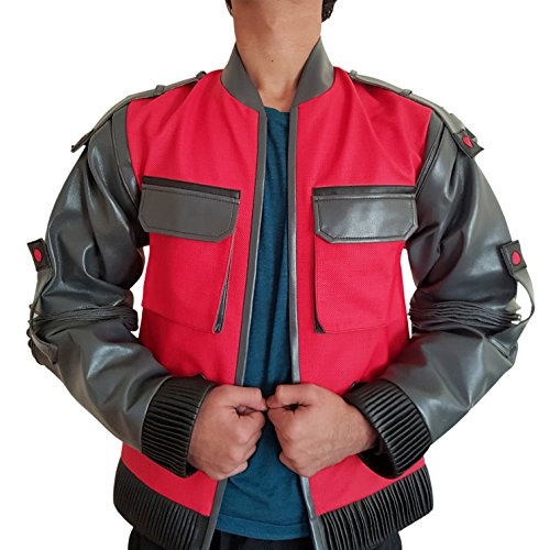 PU Leather Back to the Future 2 Jacket / Marty McFly - XS to XXL