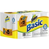 Bounty Basic Paper Towels 12 Large Rolls equal 15 Regular Rolls