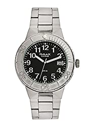 OMAX ANALOG STAINLESS STEEL WHITE DIAL WATCH FOR MEN (MONTRES OMAX S.A. - A SWISS WATCH COMPANY) ... ...
