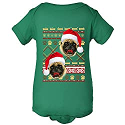 Pug Ugly Christmas Sweater One Piece Baby Bodysuit