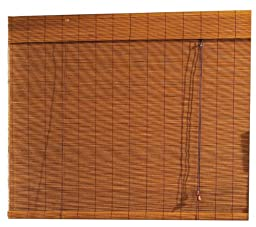 Radiance 0108121 Fruitwood Imperial Matchstick Bamboo Shade,Roll Up with 6-Inch Long Valance, 96-Inch Wide by 72-Inch Long