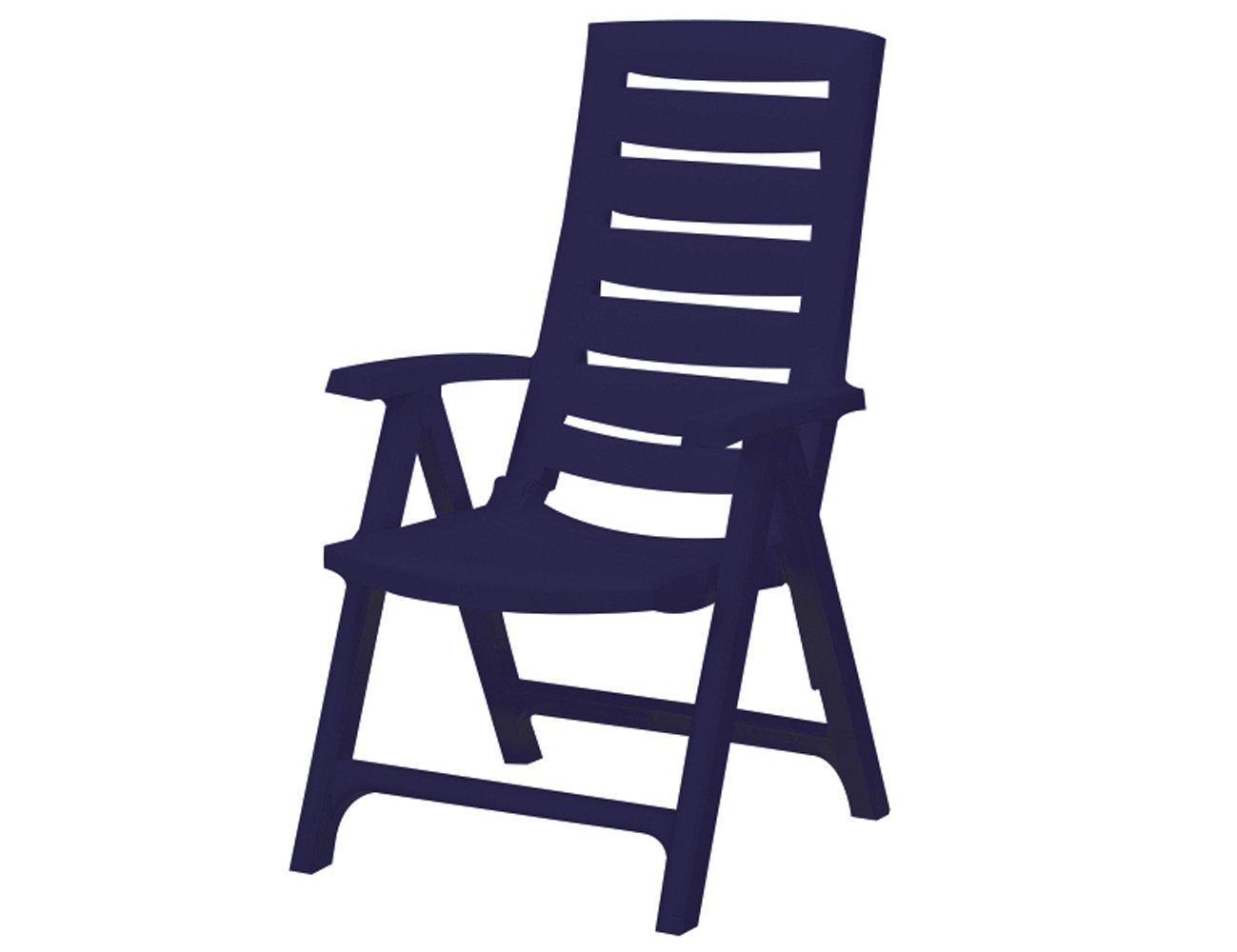 Jardin 212167 Klappsessel Aruba, verstellbar in 4 Positionen, Kunststoff, blau