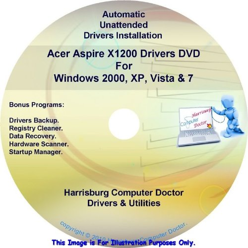 Acer Aspire X1200 Armaments Drivers DVD Disc for Windows XP, Vista, 7 & 8