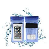 "MyTrip Universal Waterproof Clear Transparent Cell Phone Protection Floatable Dry Bag Case for Apple iPhone6 7 plus Samsung Aundro up to 6.0"" (Blue)"