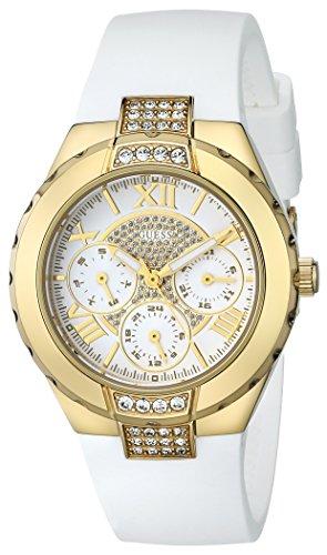 Guess U0327L1 - Reloj para mujeres, correa de goma color blanco