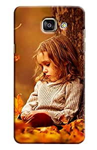 Omnam Girl Sitting Behind Tree Printed Designer Back Cover Case For Samsung Galaxy A9 (2016)]
