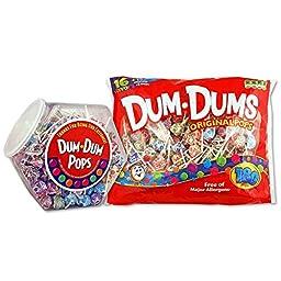Dum Dum Pops 200 ct jar and 180 ct bag