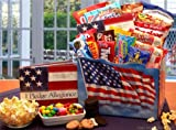I Pledge Allegence Patriotic Theme Snacks & Gourmet Food Gift Basket - Fathers Day Gift Idea for Him