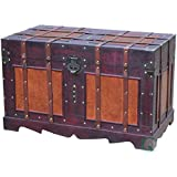Quickway Imports Antique Style Steamer Trunk