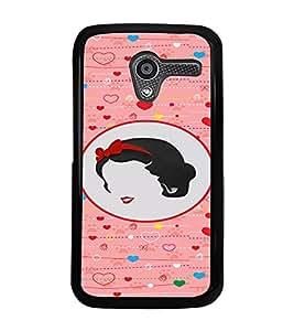 PRINTVISA Abstract Love Girl Case Cover for Motorola Moto X