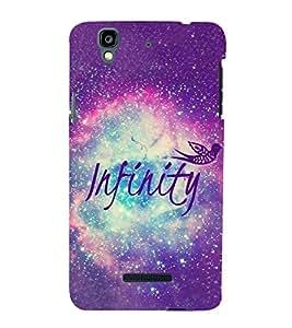 Infinity 3D Hard Polycarbonate Designer Back Case Cover for YU Yureka :: YU Yureka AO5510