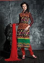 Divine Fab Women's Cotton Unstitched Dress Material (Divine Fab_4_Turqoise_Free Size)