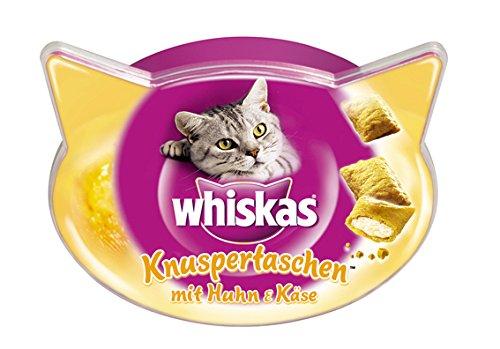 Whiskas-Knuspertaschen-Katzensnacks-Huhn-und-Kse-8-Packungen-8-x-60-g