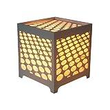 Brauch Design Night Lamp 15x15x16 Cm - 3D Dot Light Grey Cube