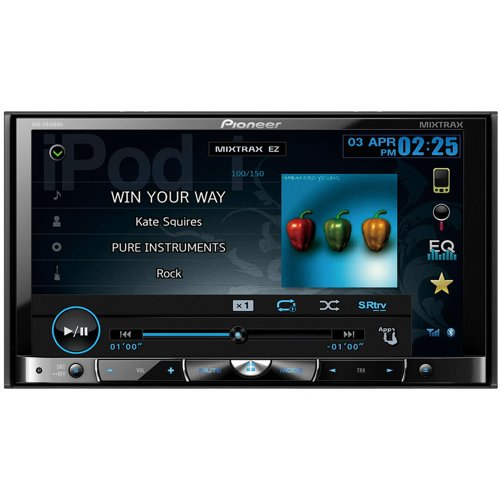 "Pioneer Avh-P8400Bh 2-Din Multimedia Dvd Receiver With 7"" Widescreen Touch Panel Display, Advanced App Mode, Built-In Bluetooth, And Hd Radio™"