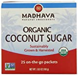 Madhava Organic Coconut Palm Sugar Single Serve Packets (25 Count)