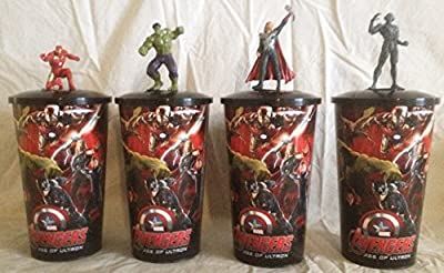 Avengers: Age of Ultron Movie Theater Exclusive Cup Toppers and Cups Set #1