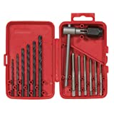 Vermont American 21698 13-Piece High Carbon Steel Tap and Drill Bit Set with Plastic Case