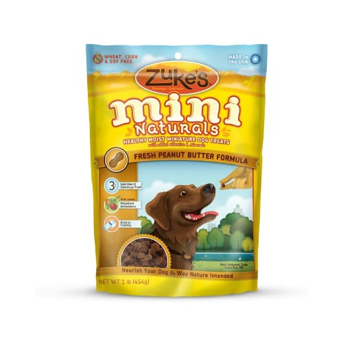 Zuke's Mini Naturals Dog Treats Fresh Peanut Butter Recipe, 16-Ounce
