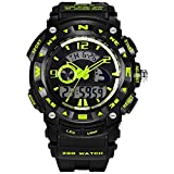 Boys Colorful LED Light High End Outdoor Sport Watch Green