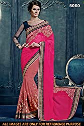 Bikaw Women's Georgette Saree (RS_5000 Series_5060_Multicolor_Free Size)