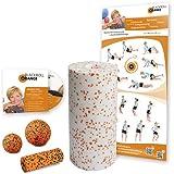 Blackroll Orange (Das Original) - DIE Selbstmassagerolle - Starter-Set MED - inkl. Übungs-DVD und Übungsposter