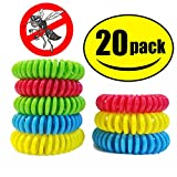 STURME 20 Pack Natural Mosquito Repellent Bracelets, Waterproof, Bug Insect Protection up to 300 Hours, No Deet, Pest Control for Kids Adults