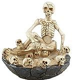 ハロウィンガイコツ灰皿アシュトレイスカル骸骨インテリア小物入れ(スケルトン)