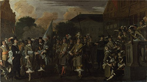 Oil Painting 'Dutch - A Company Of Amsterdam Militiamen,19th Century' 30 x 53 inch / 76 x 136 cm , on High Definition HD canvas prints is for Gifts And Dining Room, Hallway And Kitchen decor, custom (Ohio Table Pad Company compare prices)