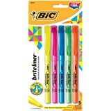 BIC Brite Liner Highlighters, Chisel Tip, Assorted Colors, 5-Count