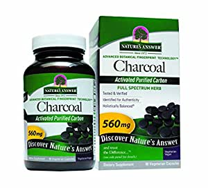 Amazon com nature s answer activated charcoal vegetarian capsules 90