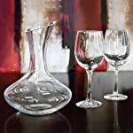 3 Piece Sonoma – Wine Decanter Set – One Liter Decanter and Two 12 oz Wine Glasses