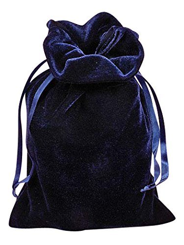 Navy Blue Velvet 6 X 9 Tarot Bag