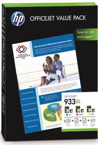 HP 933XL Officejet Value Pack - 75Blatt/A4 (dreifarbig, XL Kombipack 3*825 Seiten), CR711AE