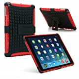 PrimeCases® Red Bumper Smart Thin Case Cover For Apple iPad Air