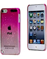 iPod Touch 5th Generation Pink Clear Water Drops Girly Case Snap Cover+2 Free Screen Protector Pack