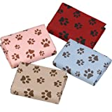 Dogs Unleashed Paw Print Pet Towel