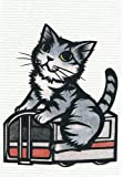 ねこの引出し 猫切り絵作家「さとうみよ」のポストカード33「御堂筋線・大阪」 10001831