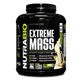 NutraBio Extreme Mass Weight Gainer - 6 lbs Vanilla by NutraBio