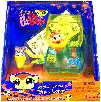 Buy Low Price Hasbro Littlest Pet Shop Teeniest Tiniest Take-A-Longs Mini Figure Monkey (B002A10KYI)