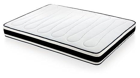 MaxColchon Visco Extrem Matelas en mousse viscoélastique 120x180 blanc