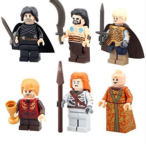 Hot selling 6pcs/lot Game of Thrones Ice and Fire Series Building Blocks Toys Minifigures White Walker Arya Stark Jime Lannister (Moviestarplanet Game compare prices)