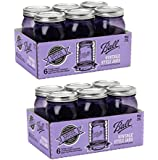 Ball Jar Ball Heritage Collection Pint Jars with Lids and Bands, Purple (Quart-Set of 12, Purple)