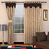 mayra products 1 Piece Polyester Door Curtain - 7 ft, Gold